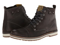 Type Z Maltby Grey Leather Men's Lace Up Boots Gray