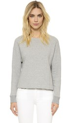 James Perse French Terry Sweatshirt Heather Grey