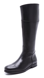 Studio Pollini Flat Tall Riding Boots Black