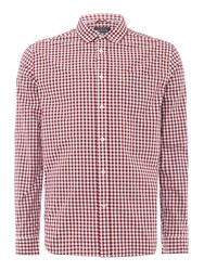 Howick Willow Gingham Long Sleeve Shirt Ruby