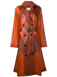 Dorothee Schumacher Transparent Trench Coat Yellow And Orange