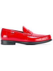 Dolce And Gabbana Brushed Loafers Red