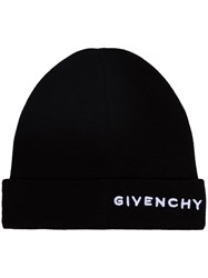 Givenchy Embroidered Logo Beanie Hat Black