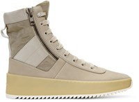 Fear Of God Grey Jungle High Top Sneakers