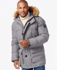 Tommy Hilfiger Long Snorkel Coat Heather Grey Cross Dye