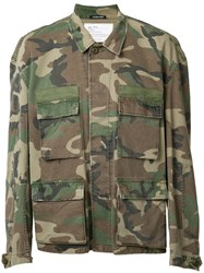 R 13 R13 Camouflage Military Jacket Green