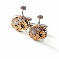 Lc Collection Vintage Gold Decorated Watch Movement Cufflinks