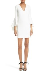 Milly Women's Nicole Bell Sleeve Dress White