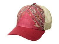 Prana La Viva Trucker Hat Carmine Pink Marrakesh Caps Multi