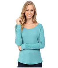 Kuhl Alva Thermal Jasper Swirl Women's Long Sleeve Pullover Blue