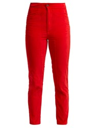 Aries Velvet Trousers Red