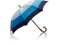 Barneys New York Colorblocked Tech Twill Stick Umbrella Blue
