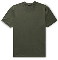 Tom Ford Slim Fit Lyocell And Cotton Blend Jersey T Shirt Green