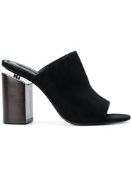 Alexander Wang Avery Mules Black