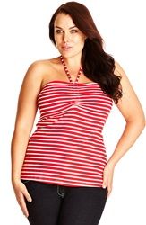 City Chic Strappy Gathered Halter Top Plus Size Siren