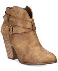 Xoxo Kasper Ankle Booties Women's Shoes Taupe