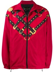 Versace Harness Print Track Jacket Red