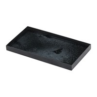Notre Monde Heavy Aged Charcoal Mirror Tray Rectangular Grey