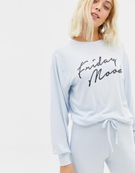 New Look Friday Mood Sweat Top Light Blue