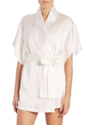 Josie Natori Lolita Short Silk Wrap Warm White