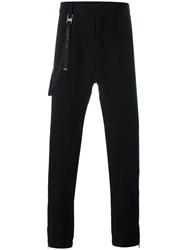 Helmut Lang Strap Detail Trousers Black