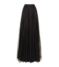 Jenny Packham Glitter Dot Tulle Gown Skirt Female Black