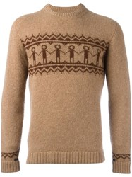 The Inoue Brothers Embroidered Long Sleeve Jumper Brown