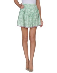 Amy Gee Mini Skirts Light Green