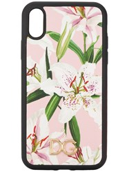 Dolce And Gabbana Lily Print Iphone Xr Case Pink