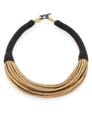 Brunello Cucinelli Leather Multi Strand Necklace