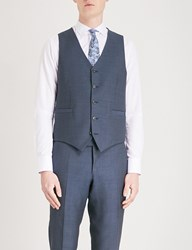 Tiger Of Sweden Litt Wool Linen And Silk Blend Waistcoat Blue