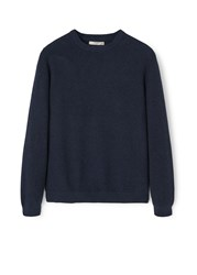 Mango Cotton Cashmere Blend Sweater Navy