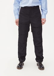 Comme Des Garcons Homme Plus 'S Polyester Stacked Striped Trouser Pants In Black Size Small 100 Polyester