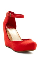 Fergalicious Disobey Wedge Pump Red
