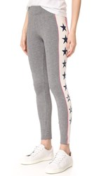 Sundry Stars Racer Stripe Leggings Heather Grey