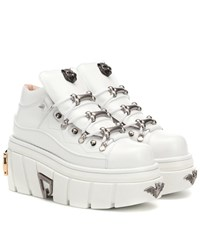 Gucci Leather Platform Sneakers White