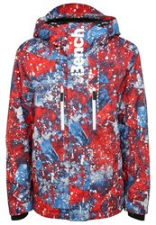 Bench Shortform Ski Jacket Classic Blue Multicoloured