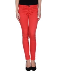 Maison Espin Casual Pants Red