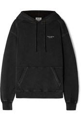Acne Studios Weny Embroidered Cotton Jersey Hoodie Black