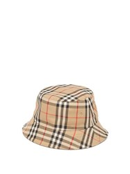 Burberry Vintage Check Cotton Bucket Hat Beige Multi