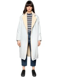 Levi's Denim And Faux Shearling Coat