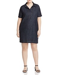 Ralph Lauren Plus Denim Shirt Dress Jones Street Wash