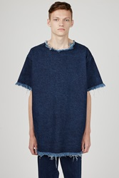 Marques Almeida Denim Oversized T Shirt Indigo