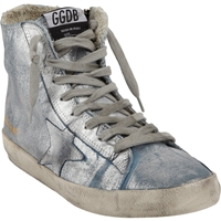 Golden Goose Francy High Top Sneakers Silver