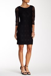 24 7 Comfort 3 4 Length Sleeve Lace Dress Multi