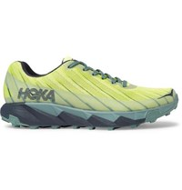 Hoka One One Torrent Rubber Trimmed Mesh Sneakers Yellow