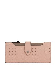 Lodis Blair Perf Leather Wallet Blush Taupe