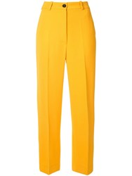 Nehera Public Stretch Straight Leg Trousers Yellow