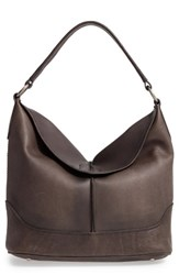 Frye Cara Leather Hobo Bag Grey Smoke