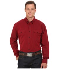 Roper Big Tall 0059 Black Fill Poplin Red Men's Clothing